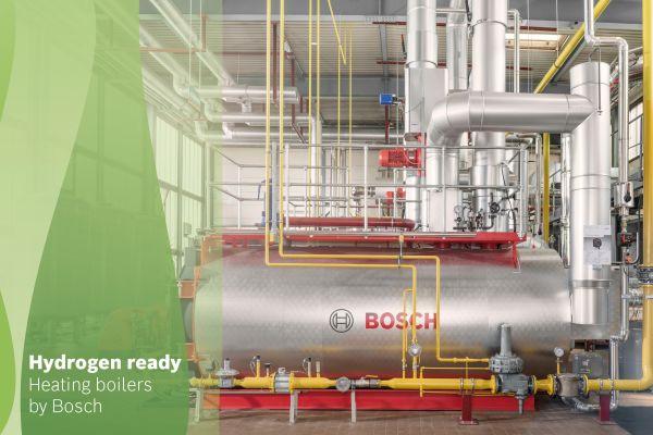 """Auf Wasserstoff-Feuerung umstellbar: """"H2-Ready""""-Heizkessel von Bosch Industriekessel mit bis zu 5 MW Wärmeleistung."""