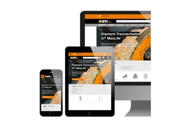 Der neue BTI Online-Shop