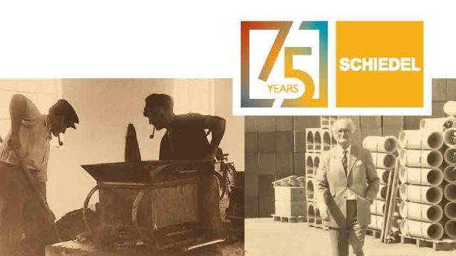 Das Bild zeigt das Jubiläums-Cover von Schiedel.