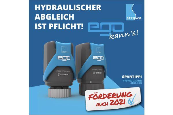 Förderung zum hydraulischen Abgleich für Fußbodenheizung auch in 2021