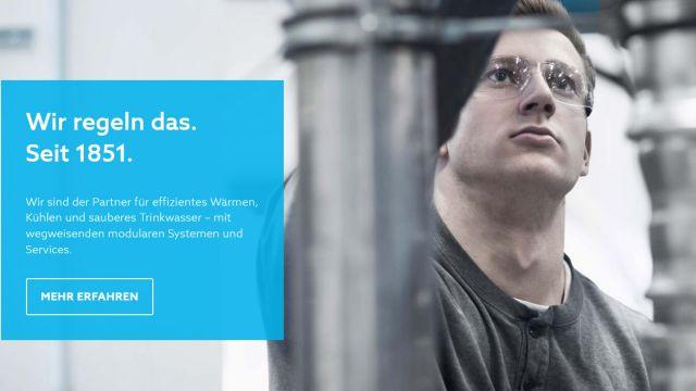 Das Bild zeigt einen Screenshot der Homepage.