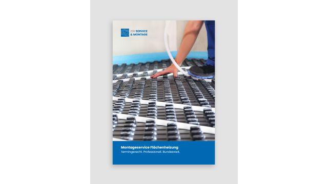 Das Bild zeigt die neue Broschüre der ZW Service & Montage GmbH.