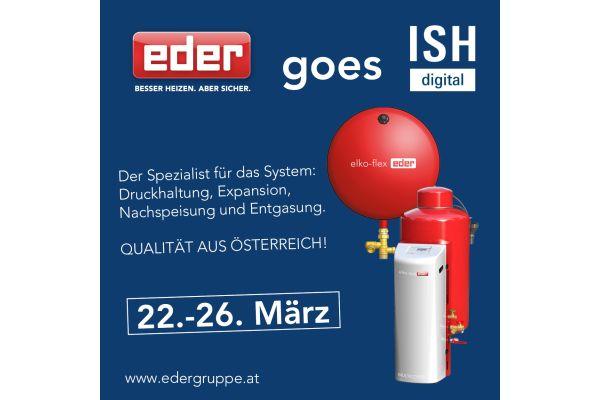 EDER goes ISH digital 2021: Besuchen Sie uns!