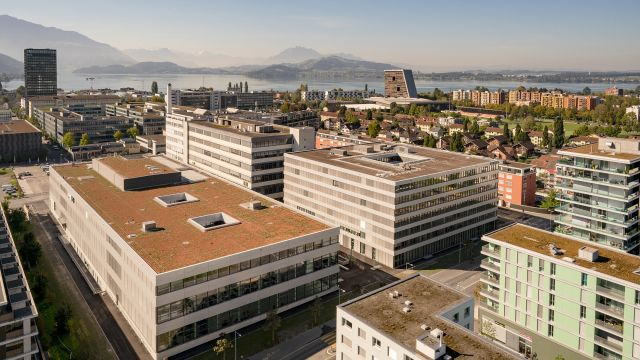 Das Bild zeigt den Hauptsitz von Siemens Smart Infrastructure.