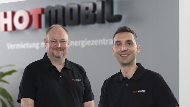 Das Bild zeigt Christoph Beceric und Sven Harbeck.