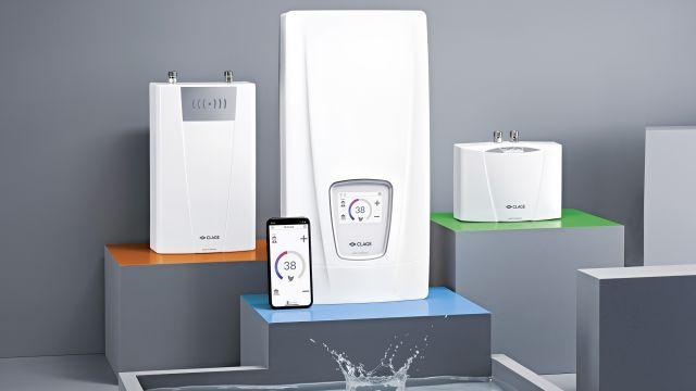 Das Bild zeigt verschiedene Varianten von E-Durchlauferhitzern.