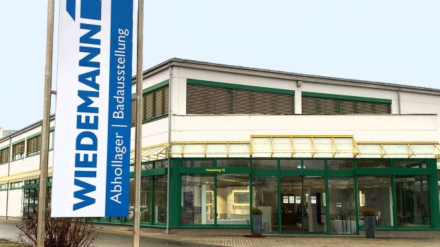 Das Bild zeigt den Firmenkomplex von Wiedemann.