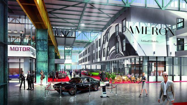 """Abbildung: Die """"Motorworld München"""" präsentiert sich als ein Zentrum für mobile Leidenschaft."""