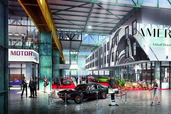 """Die """"Motorworld München"""" präsentiert sich in den denkmalgeschützten Hallen eines ehemaligen Bahnausbesserungswerkes als ein Zentrum für mobile Leidenschaft."""