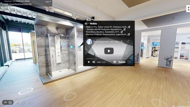 Das Bild zeigt den virtuellen Ausstellungsraum.