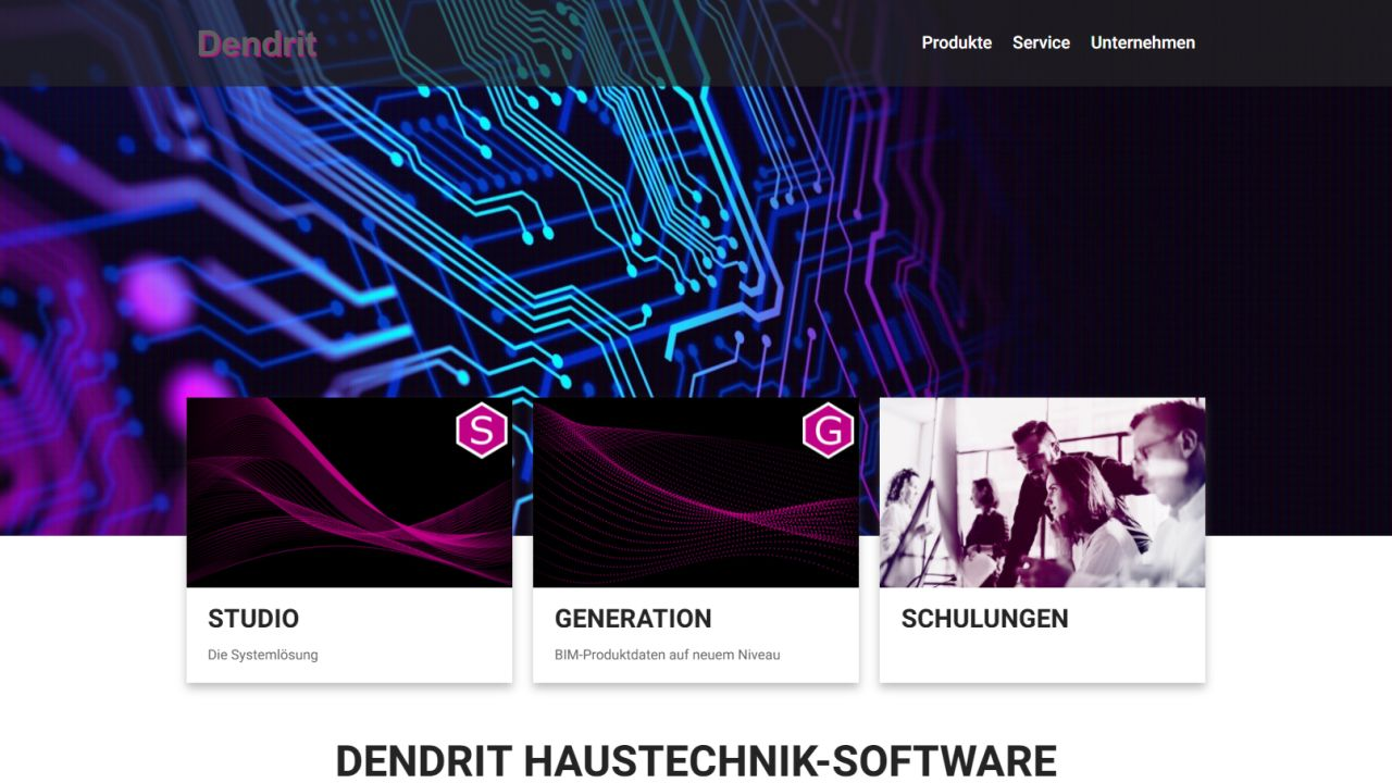 Neue Dendrit-Homepage ist online