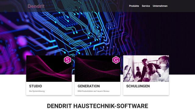 Das Bild zeigt einen Screenshot der neuen Homepage.