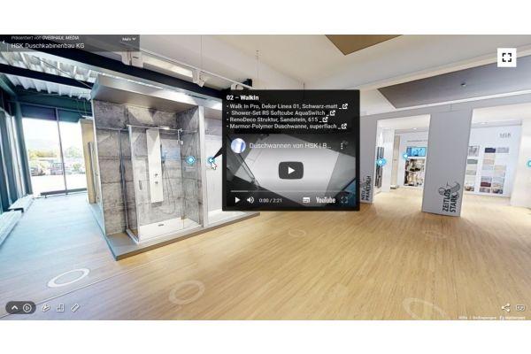 Mit der virtuellen Ausstellung bekommen Fachhandwerker jetzt auch ein hilfreiches Beratungs-tool für Kundengespräche an die Hand. Als besonderes Extra sind zahlreiche Produkt- und Erklärvideos hinterlegt.