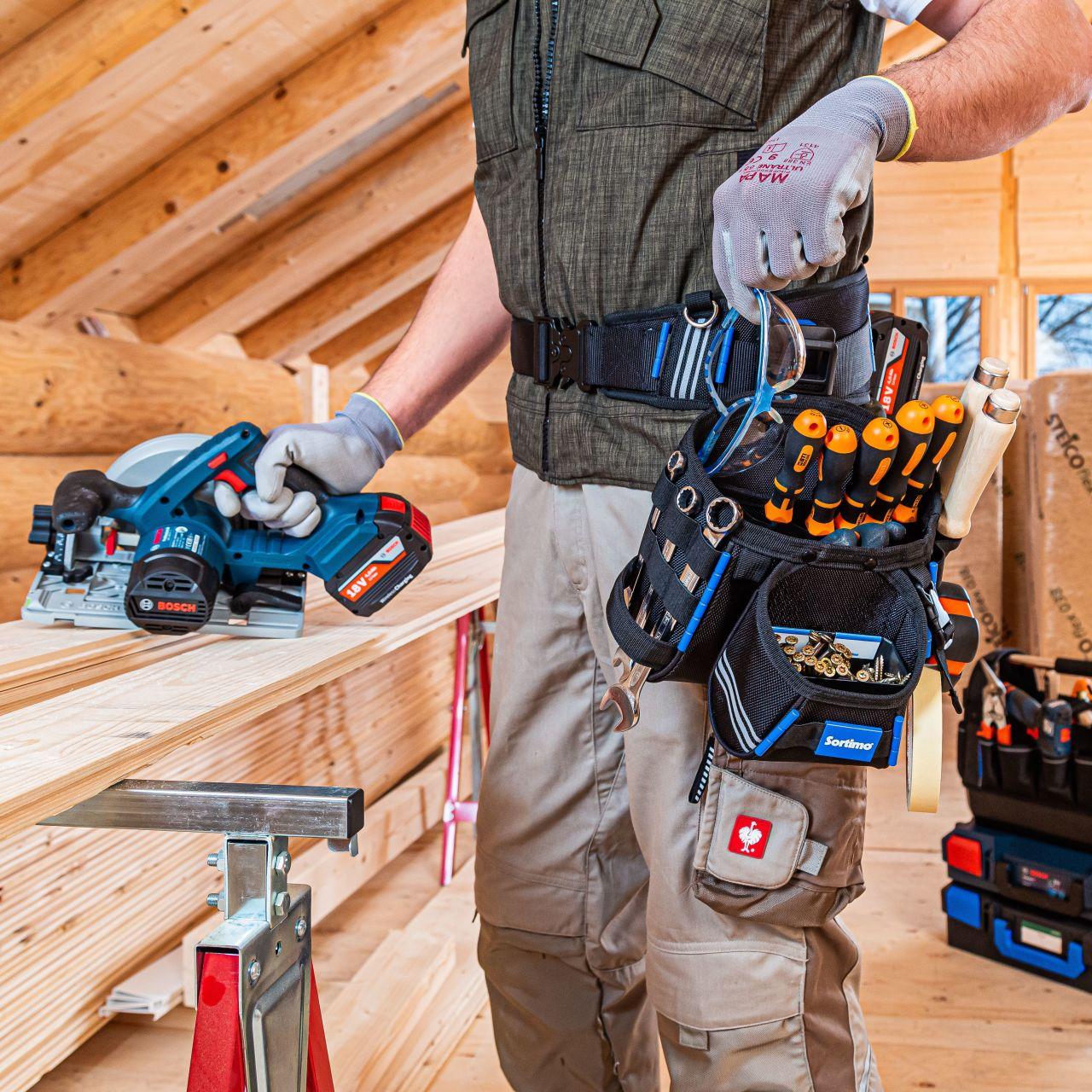Werkzeugtaschen und Werkzeuggürtel
