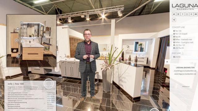 Das Bild zeigt den virtuellen Showroom.