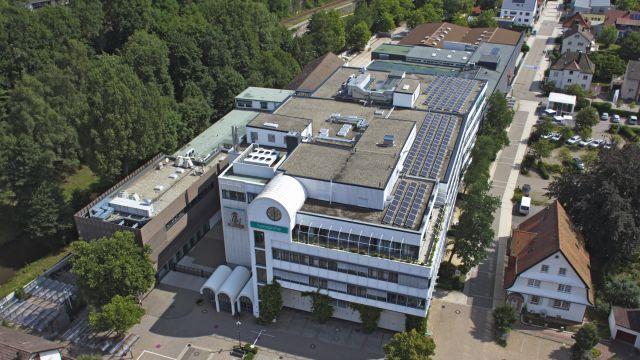 Das Bild zeigt den Stammsitz von Hansgrohe.