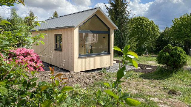 Tiny House in der Referenz, Wohnen im Grünen, keine Bodenversiegelung