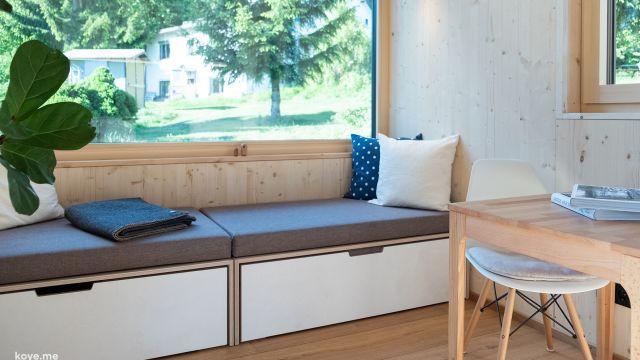 Tiny House in der Referenz, behaglicher Innenraum trotz minimaler Platzverhältnisse