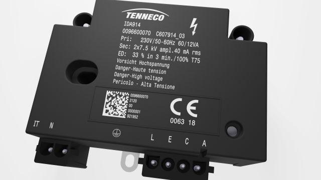 Das Bild zeigt eine Zündheinheit der Firma Tenneco.