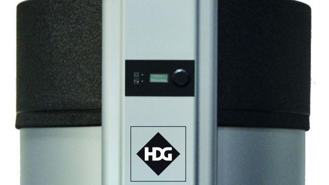 Studio-Foto, freigestellt: Produktbild Brauchwasser-Wärmepumpe