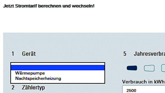 Bildschirm Screenshot: Geräte-Menü der Energy Market Solutions GmbH.