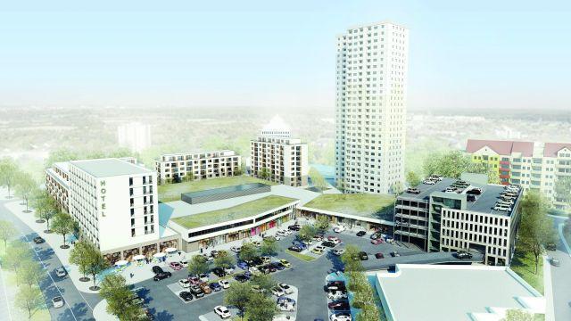 Grafik: Neues Wohnquartier in Langen, südlich von Frankfurt / Main