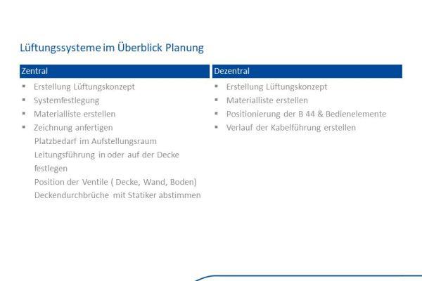 Wesentliche Unterschiede bei der Planung eines zentralen und dezentralen Lüftungssystems.