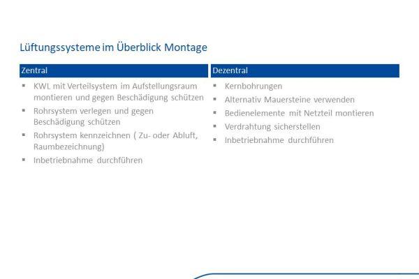 Wesentliche Unterschiede bei der Installation eines zentralen und dezentralen Lüftungssystems.