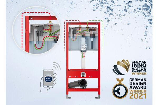 """TECE wird mit dem German Innovation Award 2021 in der Kategorie """"Heating & Bathroom"""" auszeichnet."""