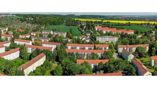 """Foto: Marienthal, Zwickau - Das """"Leuchtturmprojekt"""" ZED bemüht sich anhand des Modifizierens der Energieeffizienz, sozialen Verträglichkeit und Nachhaltigkeit darum, wie eine zukunftsfähige Quartiersversorgung aussehen sollte."""