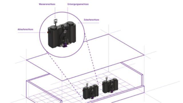 Das Bild zeigt Kessel-Produkte in einer BIM-Software.