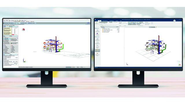 Abbildung: TGA-Planungssoftware von mh-software für den Austausch mit anderen Planungsbeteiligten.