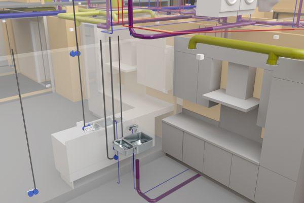 Beim Entwurf der SHKL- und Elektroinstallationen kam eine hochwertige Softwarelösung zum Einsatz, die eigens für die Planung von Gebäudetechnik entwickelt wurde.