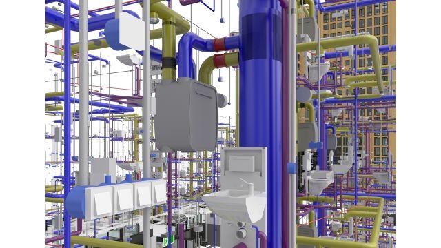 Abbildung: Darstellung der Gebäudelösung mit Fokus auf Details ausgewählter Bereiche.