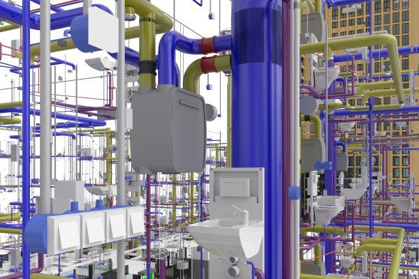 Bei der Darstellung der Gebäudelösung kann der Fokus auch auf Details ausgewählter Bereiche gelegt werden.