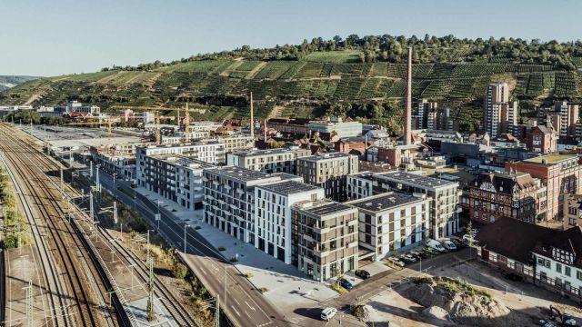 """In der Bauphase: """"Neue Weststadt - Klimaquartier"""" auf einem Areal von 12 Hektar."""