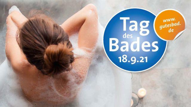 Das Bild zeigt Werbung für den Tag des Bades.