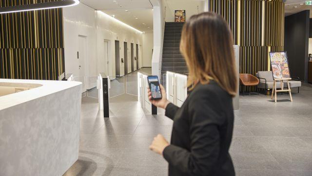 """Foto: """"Smart Spaces"""" zum Erleben digitaler Technik und Gebäudeautomation in der Firmenzentrale von Sauter."""