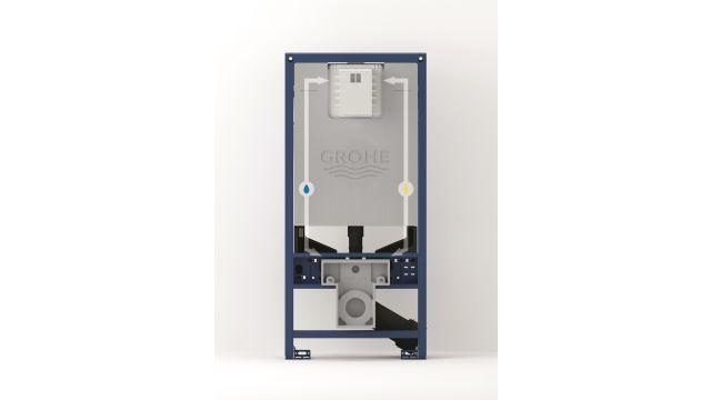 Für alle Fälle gerüstet: Mit vollintegrierten Elektroanschlüssen und bereits vorhandenen Anschlüssen für Dusch-WCs ist das System für alle aktuellen und zukünftigen smarten WC-Funktionen ausgestattet.