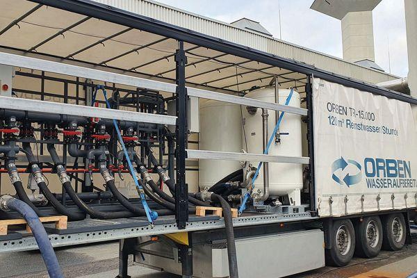 Orben bereitet Kreislaufwasser für die Fernwärme am neuen Terminal 3 des Frankfurter Flughafens auf