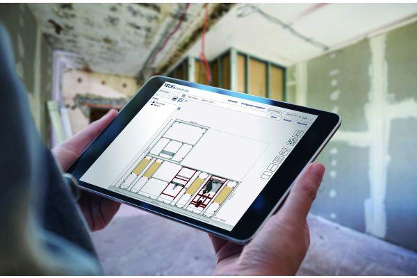 """Die Planung von Sanitärwänden geht mit der klar strukturierten Anwendersoftware """"TECEsmartwall"""" spielend leicht von der Hand."""