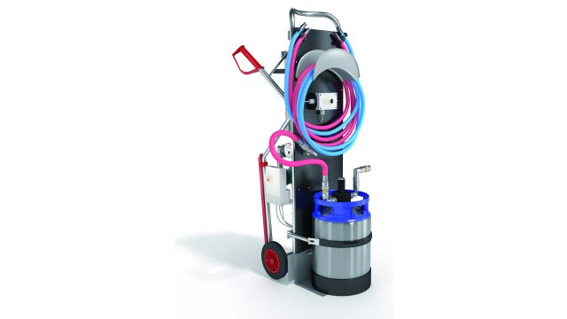Das Bild zeigt Heizwasser-Füllmobil