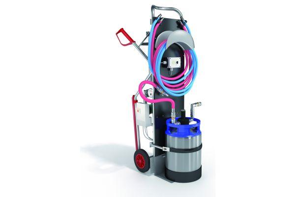 """Komplett anschlussfertiges Heizwasser-Füllmobil  """"Thermostil mobil 4000"""" von Orben für die Aufbereitung und Befüllung im Bypassverfahren gemäß VDI 2035 und DIN EN 14336 in nur einem Arbeitsschritt."""