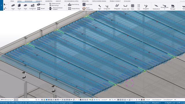 In der Referenz: Tekla Structures hilft regelbasierte Konstruktionsaufgaben stärker zu automatisieren.