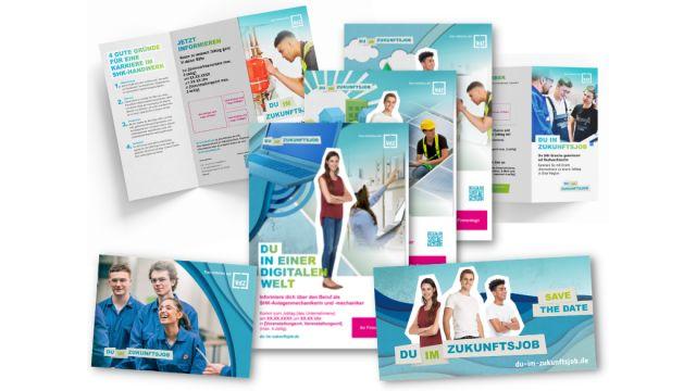 Marketingmaterial zur Nachwuchsoffensive