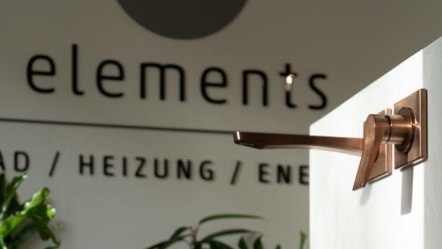 Das Bild zeigt einen Waschtisch in einer ELEMENTS-Ausstellung.