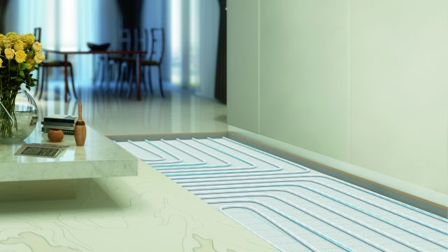 Abbildung: Systeme der Flächenheizung und insbesondere der Flächenkühlung werden immer beliebter.