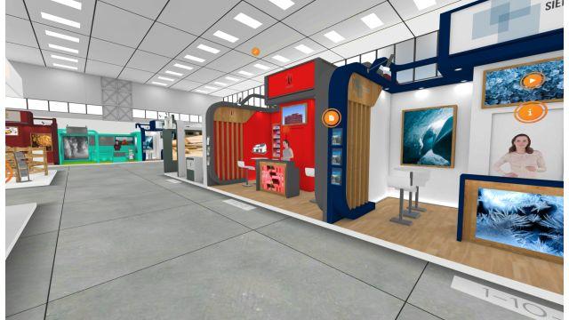 Die virtuelle Messehalle 4 der Leitmesse Altenpflege 2021