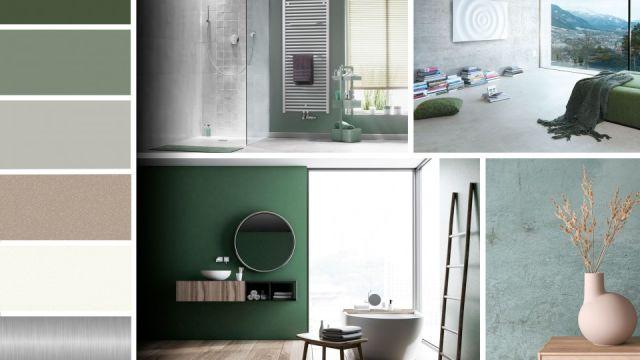 """Das Bild zeigt die Farbwelt """"Neo green – Neo grün""""."""