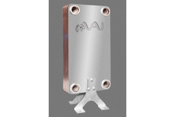 Die kupfergelöteten Plattenwärmeübertrager für die Brauchwarmwasserbereitung kommen in den Hochhäusern in verschiedenen Ausführungen zum Einsatz.